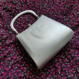 Silver retro style purse